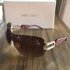 Jimmy Choo Women's Sunglasses brown and gold